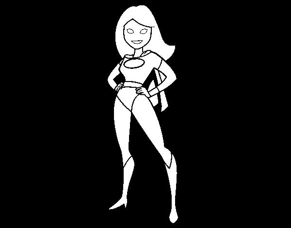 Disegno Di Supereroina Da Colorare Acolore Com