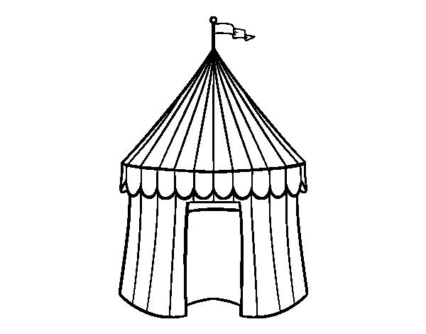 Disegno Di Tenda De Circo Da Colorare Acolore Com