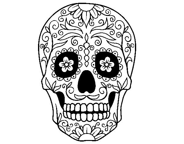 Disegno Di Teschio Messicano Da Colorare Acolorecom