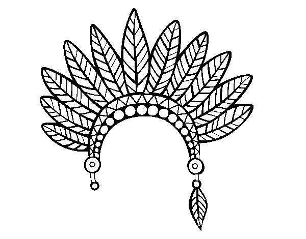 Disegno Di Testa Corona Di Piume Indiano Da Colorare Acolore Com