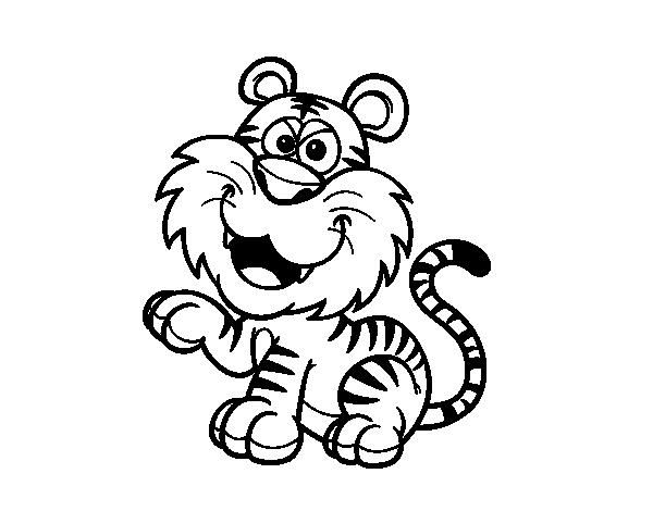 Disegno Di Tigre Del Bengala Da Colorare Acolore Com