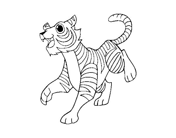 Disegno Di Tigre Reale Del Bengala Da Colorare Acolore Com