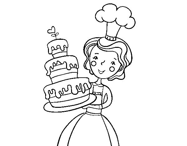 Disegno Di Torta Di Compleanno Fatta In Casa Da Colorare