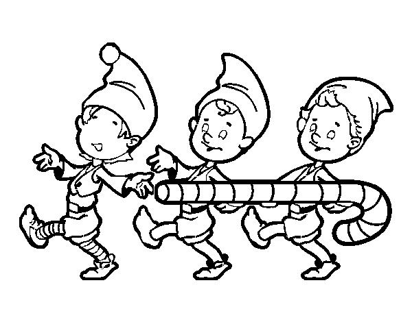 Folletti Da Colorare.Disegno Di Tre Folletti Di Natale Da Colorare Acolore Com