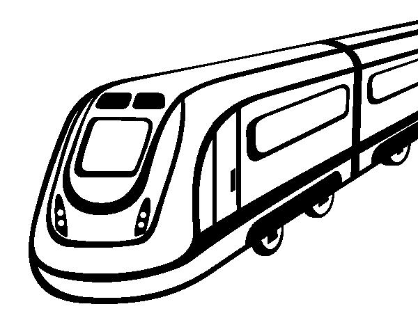 Disegno Di Treno Ad Alta Velocità Da Colorare Acolorecom