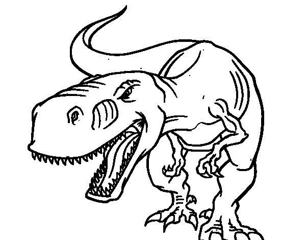 Disegno Di Tyrannosaurus Rex Arrabbiata Da Colorare Acolore Com