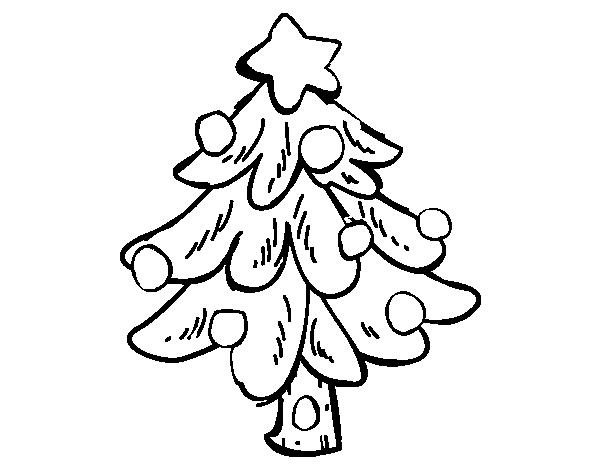 Disegno Di Un Albero Di Natale Da Colorare Acolore Com