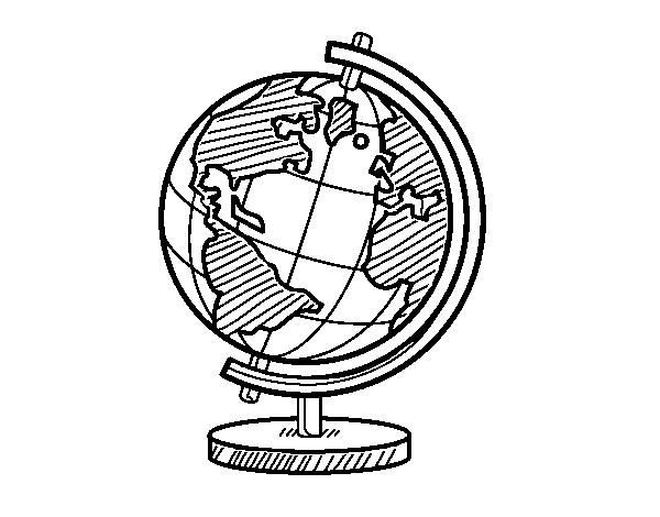 Disegno Di Un Globo Del Pianeta Terra Da Colorare Acolorecom