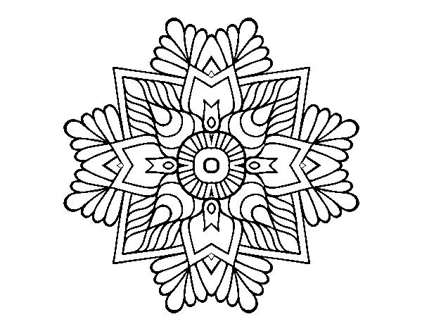 Disegno Di Un Mandala Di Mosaico Da Colorare Acolore Com