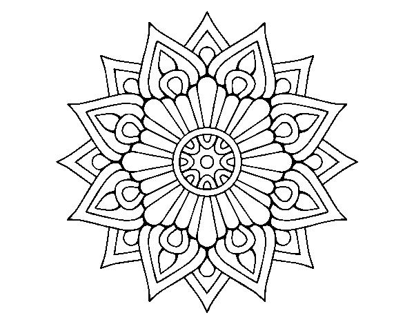 Disegno Di Un Mandala Lampo Floreale Da Colorare Acolore Com