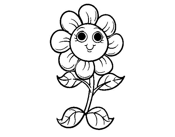 Disegno Di Un Piccolo Fiore Da Colorare Acolorecom