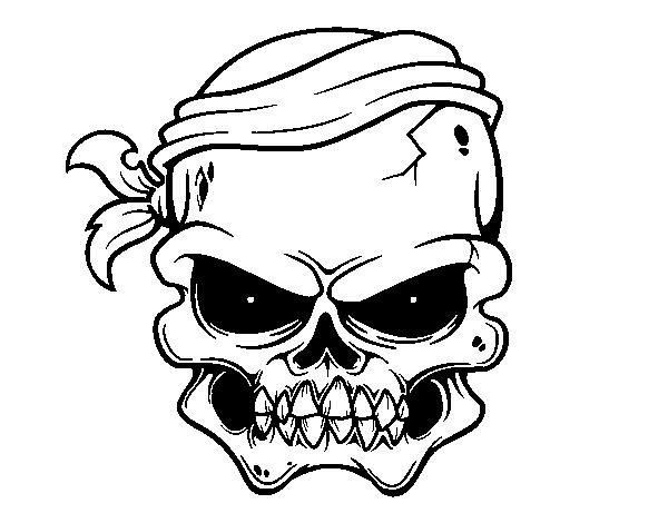 Disegno Di Un Teschio Dei Pirati Da Colorare Acolorecom