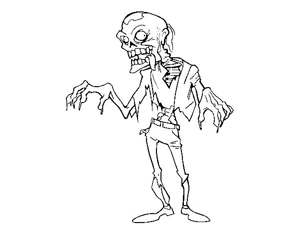 Disegno Di Un Zombie Da Colorare Acolore Com