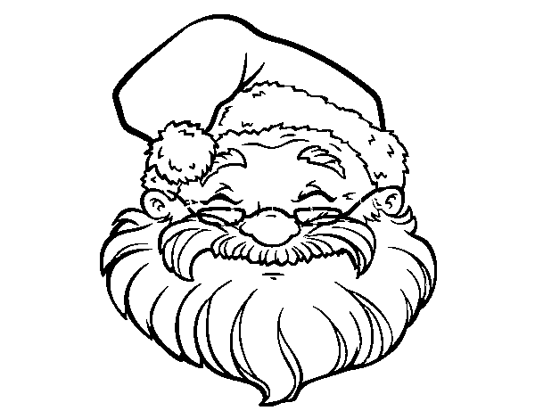 Disegno Di Una Faccia Di Babbo Natale Da Colorare Acolorecom