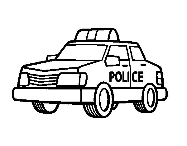 Disegno Di Una Macchina Della Polizia Da Colorare Acolore Com