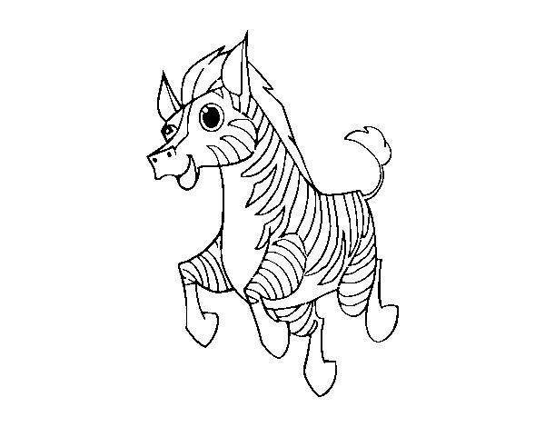 Disegno Di Una Zebra Da Colorare Acolore Com