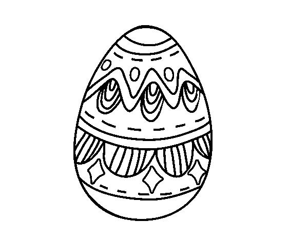 Disegno Di Uovo Di Pasqua Con I Diamanti Da Colorare Acolorecom