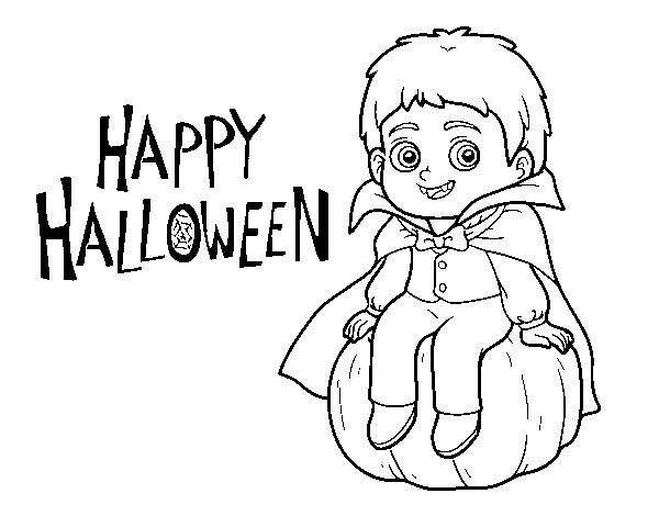Disegno Di Vampiro Per Halloween Da Colorare Acolorecom