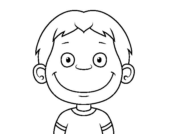 Disegno Di Volto Di Un Bambino Piccolo Da Colorare Acolore Com