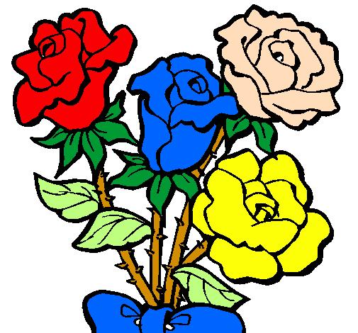 Disegno Mazzo Di Rose Colorato Da Utente Non Registrato Il 04 Di