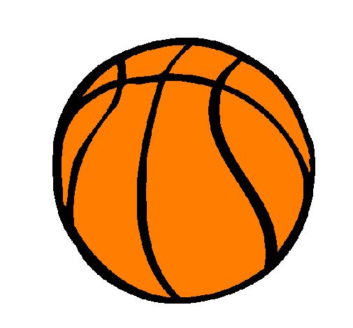 Disegno Pallone Da Pallacanestro Colorato Da Utente Non Registrato