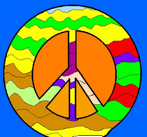 Disegno Simbolo Della Pace Colorato Da Utente Non Registrato Il 03