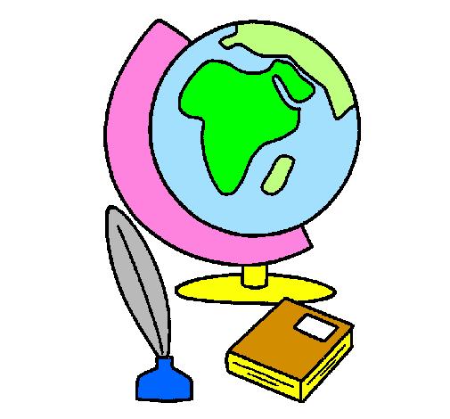 Disegno Mappamondo Colorato Da Utente Non Registrato Il 02 Di Maggio