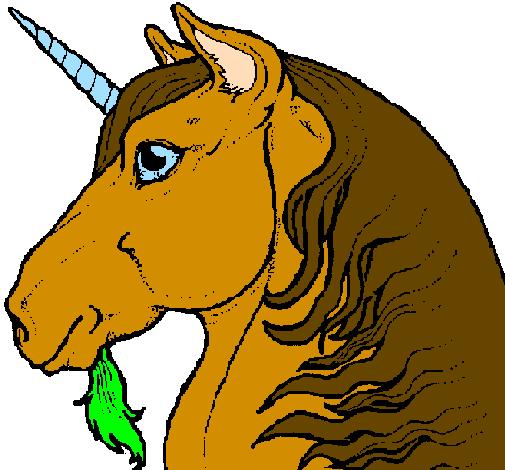 Disegni Da Colorare Testa Di Cavallo.Disegno Testa Di Unicorno Colorato Da Utente Non Registrato Il 18 Di Giugno Del 2009