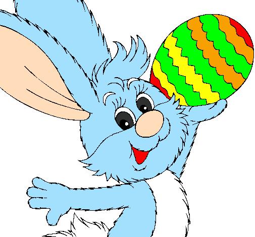 Disegno Coniglio E Uovo Di Pasqua Ii Colorato Da Utente Non