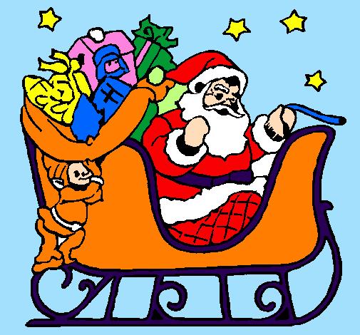 Foto Della Slitta Di Babbo Natale.Disegno Babbo Natale Alla Guida Della Sua Slitta Colorato Da Utente Non Registrato Il 17 Di Settembre Del 2009