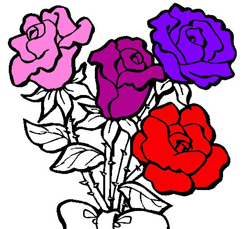 Disegno Mazzo Di Rose Colorato Da Utente Non Registrato Il 10 Di