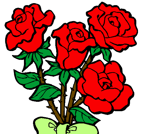 Disegno Mazzo Di Rose Colorato Da Utente Non Registrato Il 01 Di