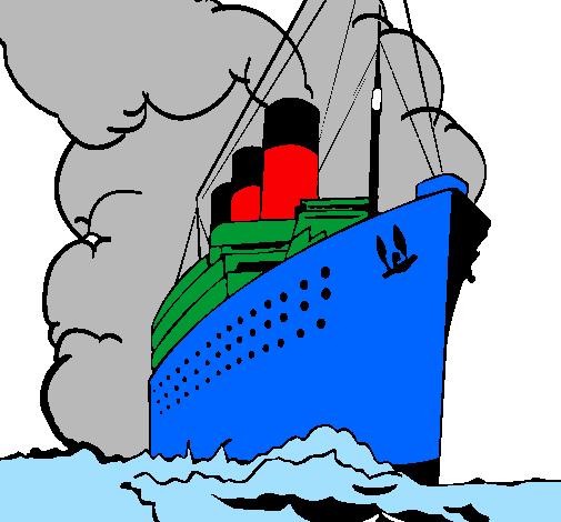 Disegno Nave A Vapore Colorato Da Utente Non Registrato Il 07 Di