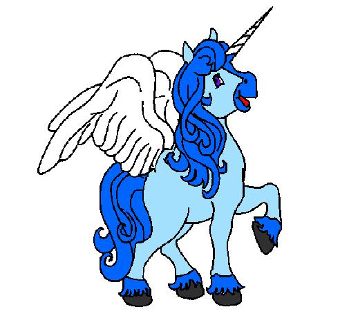 Disegno Unicorno Con Le Ali Colorato Da Utente Non Registrato Il 08