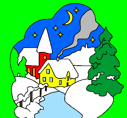 Disegno Villaggio Natalizio Colorato Da Utente Non Registrato Il 02