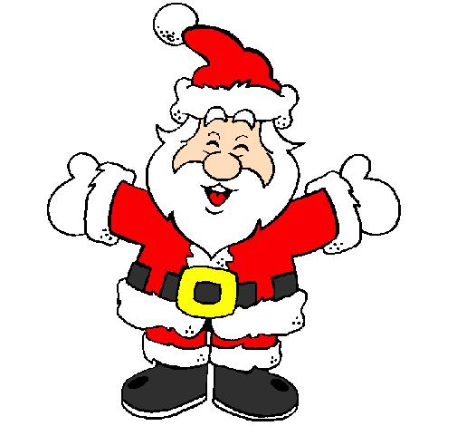 Disegno Babbo Natale Felice Colorato Da Utente Non Registrato Il 08