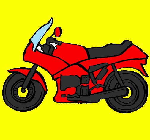 Disegno Motocicletta Colorato Da Utente Non Registrato Il 20 Di