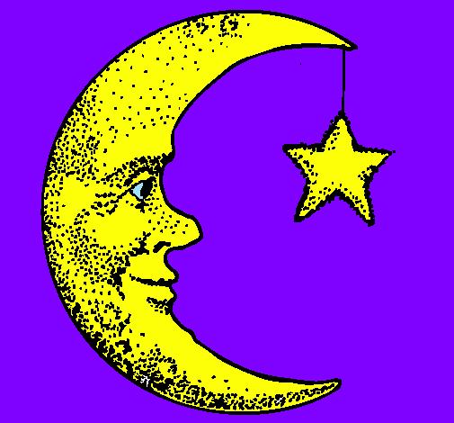 Disegno Luna E Stelle Colorato Da Utente Non Registrato Il 02 Di