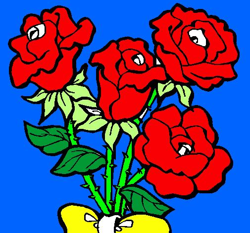Disegno Mazzo Di Rose Colorato Da Utente Non Registrato Il 20 Di