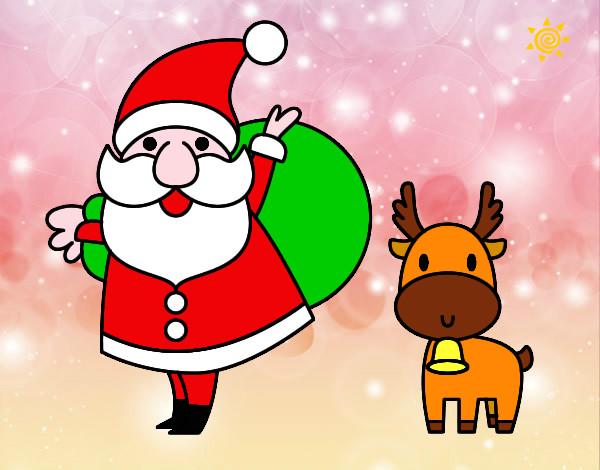 Disegno Babbo Natale E Una Renna Colorato Da Chiaraa Il 13 Di