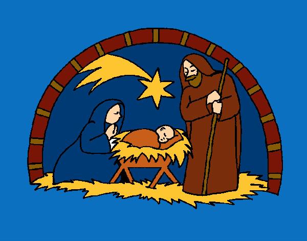 Disegni Da Colorare Grotta Di Natale.Disegno Gesu Nasce Nella Grotta Colorato Da Ioraffyale Il 12