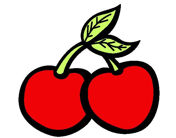 Disegni di ciliegie da colorare for Disegni da colorare ciliegie