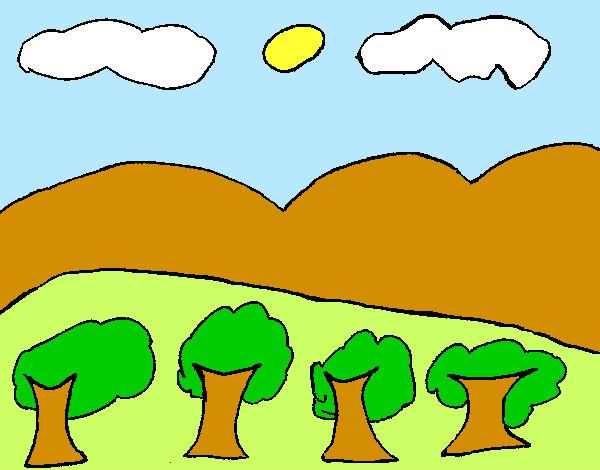 Disegno Paesaggio Con Montagna Colorato Da Riccardo20 Il 07