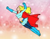 Super girl volante